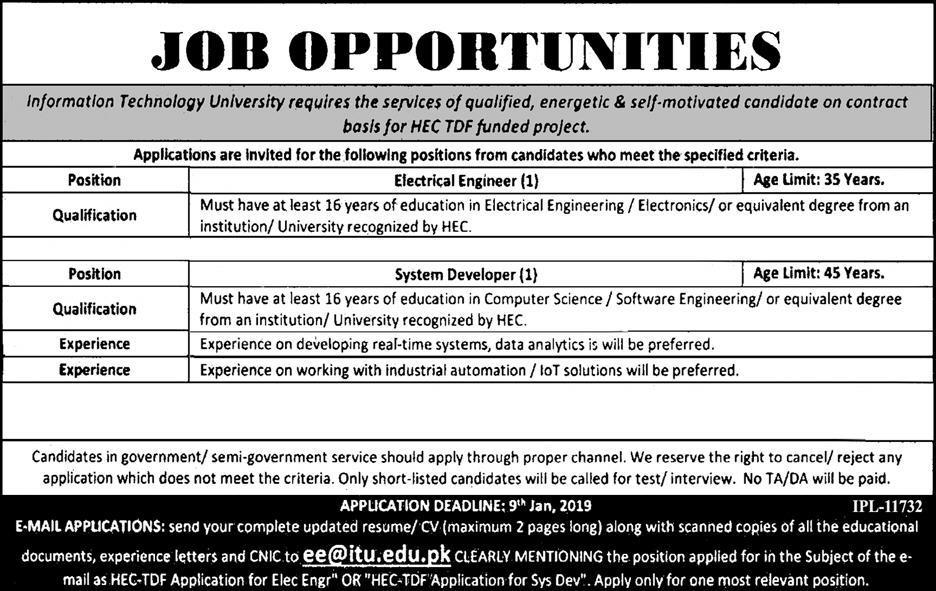 Jobs in IT University