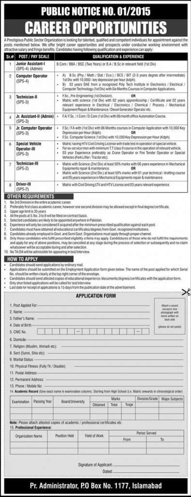Jobs in Po Box No 1177