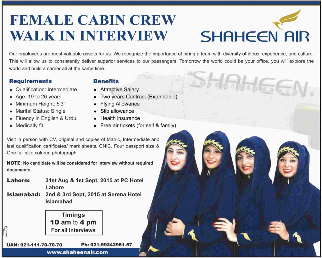 Jobs in Shaheen Air