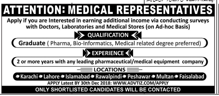 Medical Staff Jobs In Pakistan