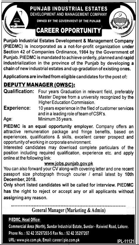 Punjab Industrial Estates Development & Management Company