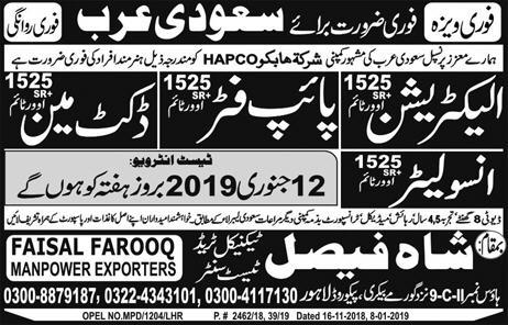 Shah Faisal Technical Trade Test Center Lahore Jobs For Electrician